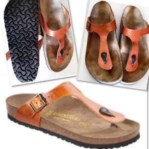 Birkenstock Shoes - BIRKENSTOCK ANTIQUE ORANGE GIZEH SANDALS SZ 40 / 9